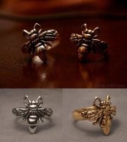 Bee Rings by anubiscollections