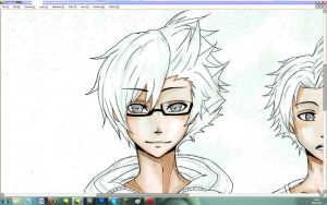 WIP Daisuke and Oc by DragoRaven