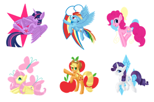 [P] Mane 6 Collection by Taevari