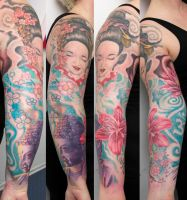 geisha and buddha arm project by graynd
