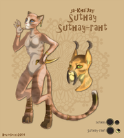 types of Khajiits: Suthay and Suthay-rath by HeloiseTheSiamese