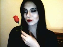 Morticia Addams Makeup by CoraBime
