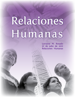 Human Relations cover page by lorrainerosado