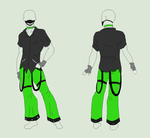 Outfit Adopt - The Green Raver - SOLD by ShadowInkAdopts
