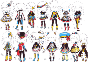 SOLD- Star OUTFIT adopts by Guppie-Adopts