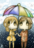 Together in an Umbrella by Shower-kun