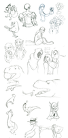 Sketchdump 8-19-15 p1 by DarkKitsunegirl