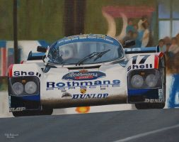 Works Porsche at Le Mans 1987 by huckerback6