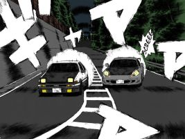 Toyota Ae86 vs Toyota MR-S - Initial D by ZA-7