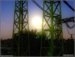 Industrial rising by firework