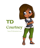 TD- Chibi anime-ish Courtney by Inner-D