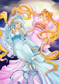 Princesses of the Moon by cheesefred