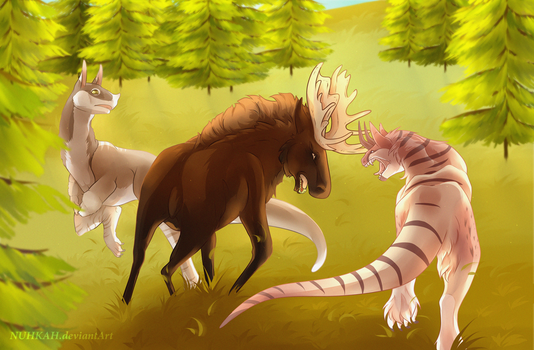 Hunting party #1 by Nuhkah