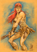 Red Sonja by aangrafis