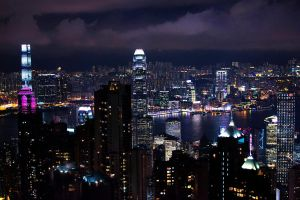 Hong Kong - City Lights II by castles-609