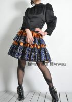 Silk Brocade High Waist Skirt7 by yystudio