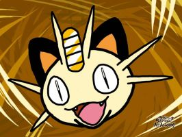 1st Meowth (Art Academy) by laprasking
