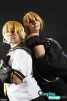 Len Vocaloid and Len Imitaion by EmoHimeChan
