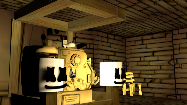 |C4D|FNAF|Marshmallow In Bendy!| by TheFoxGamerOfficial2
