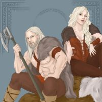 Alvar and Alfhild by DrottningFrey