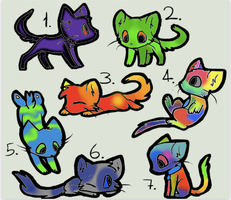 Adoptables Batch 6 by Halfkit