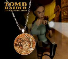 Tomb Raider Resin Charm by crafting-Farah