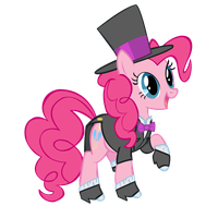 Pinkie Pie in her Tuxedo by star-burn