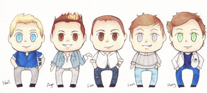 One Direction - Chibis by EmailinasBrother
