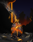 Magma Dragon Egg by canned-sardines