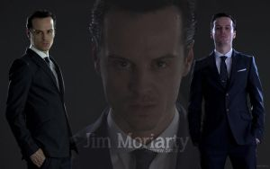 Andrew Scott as Jim Moriarty -Wallpaper Version- by AmbrixMUSE