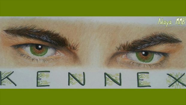 Almost Human -Kennexs Eyes- Fanart (Karl Urban) by AkayaBlack