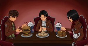 Dinner with Levi (Attack on Titan) by MellodyDoll