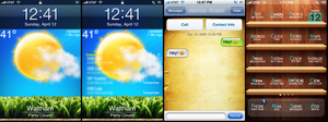iPhone Theme ReText 1.0.4 Wood by febian