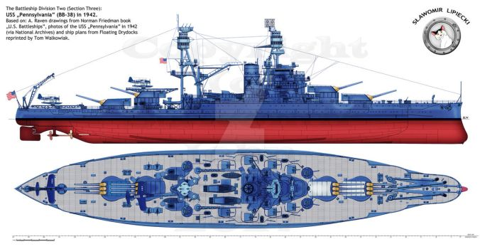 USS Pennsylvania in 1942 by Lioness-Nala