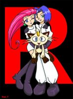Team Rocket chibi group pic by Magi-K