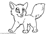 +FREE LINEART+ Chibi Canine by KayAdoptables