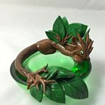 SALE Forest Candle dragon by LittleCLUUs