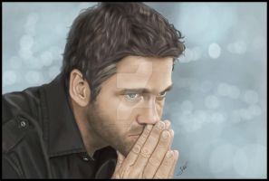 Portrait- Gerard Butler by 0Snow-White0