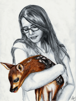 Anna and her deer FINAL by bbo6d4n