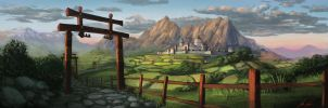 Xin Zhaou, City of the Fire Mountains by Trinitydigitaldesign