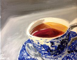 Painting Cup O Tea by capwak