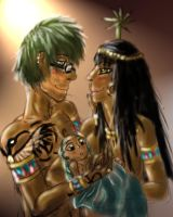 Thoth, Seshat and Tuti by YourPlagueDoctor