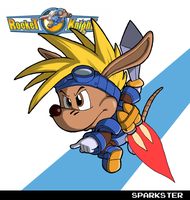 Sparkster (Rocket Knight Adventures) by fryguy64
