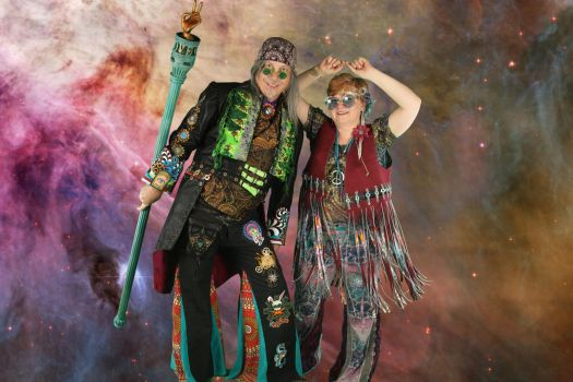 Steampunk Hippies Front CostumeCon 31 by brucethelesser