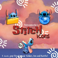 Stitch Icons by mistressmariko