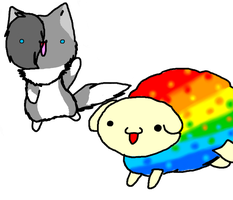 Rainbow sheep by 1234374s
