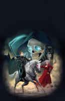 Terry Pratchett Mort cover illustration by katea