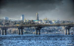Kiev: View from the Left Bank of the Dnieper by t-maker