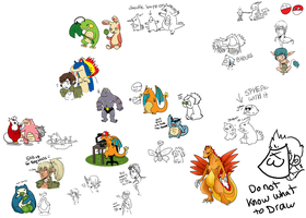 Pokemon Doodles EXTREAM by X3-chan
