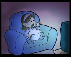 little girl and her tv by bafocomics